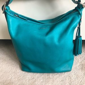 Coach Leather Bucket Bag Blue